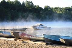 Mist on Trout Lake