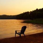 Enjoy sunsets on the lake
