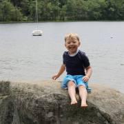 Enjoying a fun trip to the lake