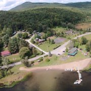 Twin Pines Resort from the sky